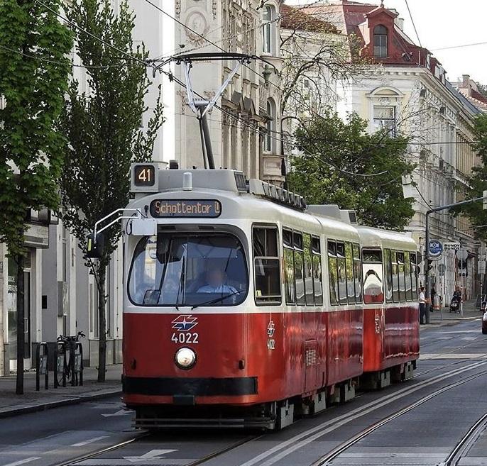 Unterwegs in Wien mit der Straßenbahn