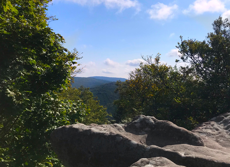 Aussicht Südfels Rundwanderweg Drachenfels